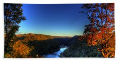 Hand Towel featuring the photograph Overlook In The Fall by Jonny D