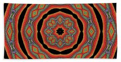 Orange Black  Beautiful Design. Art Bath Towel by Oksana Semenchenko