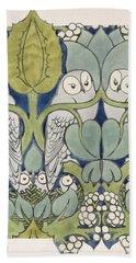 Owls, 1913 Hand Towel