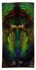 Owly Spirit - Fantasy Art By Giada Rossi Bath Towel by Giada Rossi