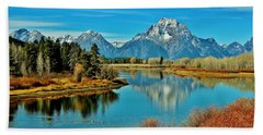 Bath Towel featuring the photograph Oxbow Autumn by Benjamin Yeager