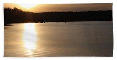 Oyster Bay Sunset Bath Towel by John Telfer