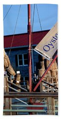 Oystering History At The Maritime Museum In Saint Michaels Maryland Hand Towel