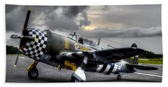 P-47 Sunset Bath Towel