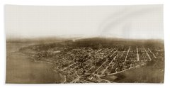 Pacific Grove 1200 From Feet Above Lovers Point And Monterey Bay 1906 Bath Towel