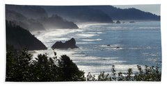 Pacific Mist Bath Towel by Karen Wiles