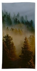 Pacific Northwest Morning Mist Bath Towel