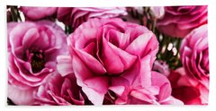 Paint Me Pink Ranunculus Flowers By Diana Sainz Bath Towel