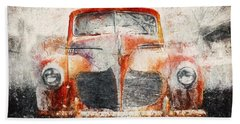 Painted 1940 Desoto Deluxe Bath Towel