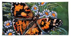 Painted Lady Bath Towel by Gail Butler