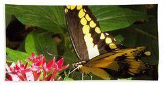 Painted Lady Goes To Dinner Bath Towel