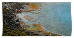 Hand Towel featuring the photograph Painted Pool Of Yellowstone by Michele Myers