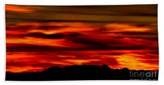 Hand Towel featuring the photograph Painted Sky 34 by Mark Myhaver