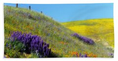 Painted With Wildflowers Hand Towel by Lynn Bauer