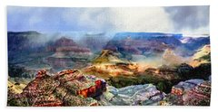 Painting The Grand Canyon Hand Towel by Bob and Nadine Johnston