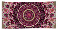 Bath Towel featuring the digital art Paisley Hearts by Joy McKenzie