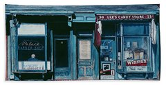 Palace Barber Shop And Lees Candy Store Hand Towel