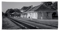 Palatka Train Station Bath Towel by Lynn Palmer