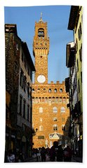 Palazzo Vecchio In Florence Italy Hand Towel
