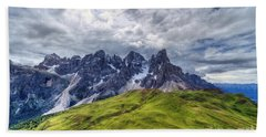 Hand Towel featuring the photograph Pale San Martino - Hdr by Antonio Scarpi
