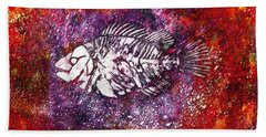Paleo Fish Bath Towel