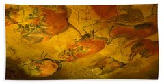 Paleolithic Paintings, Altamira Cave Bath Towel