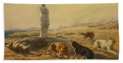 Pallas Athena And The Herdsmans Dogs Hand Towel