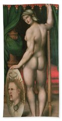 Pallas Athena Hand Towel by Fontainebleau School