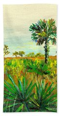 Palm And Palmetto Hand Towel