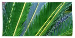 Palm Cycas Fronds Bath Towel