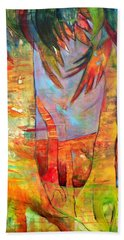 Hand Towel featuring the painting Palm Jungle by Elizabeth Fontaine-Barr