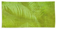 Palm Leaves Botanical Abstract Hand Towel by Marianne Campolongo