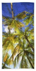 Palm Trees Of Aruba Hand Towel