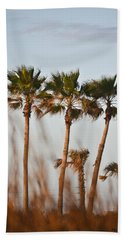 Palm Trees Through Tall Grass Hand Towel