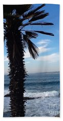 Palm Waves Hand Towel by Susan Garren