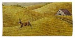 Palouse Farm Whitetail Deer Hand Towel