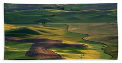 Palouse Shadows Hand Towel by Mike  Dawson