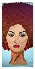Pam Grier C1970 The Original Diva Hand Towel