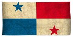 Panama Flag Vintage Distressed Finish Bath Towel