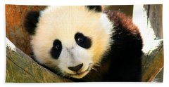 Panda Bear Baby Love Hand Towel