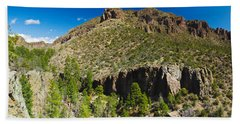 Panorama Of Dome Wilderness, San Miguel Bath Towel