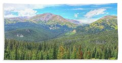 Hand Towel featuring the photograph Panoramic Boreas Pass by Lanita Williams