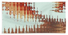 Panoramic City Reflection Hand Towel