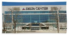 Panoramic Of Delta Center Building Hand Towel