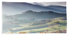 Panoramic Photograph Taken From Lourdes Hand Towel