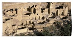 Panoramic View Of Cliff Palace Cliff Bath Towel