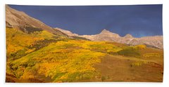 Panoramic View Of Mountains, Telluride Bath Towel