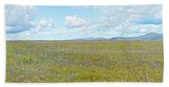 Panoramic View Of Spring Grasslands Hand Towel