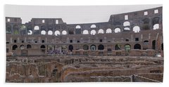 Panoramic View Of The Colosseum Bath Towel