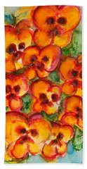 Pansies Love Us Hand Towel
